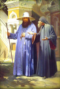 Патриарх Никон (в шляпе)